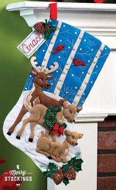 Deer Family Bucilla Christmas Stocking Kit