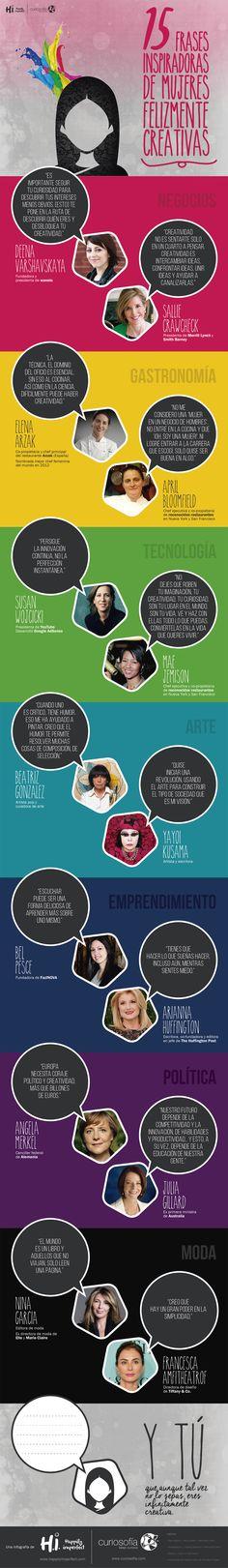 Este es un homenaje a esas mujeres que tanto admiramos, que demuestran que la creatividad  se puede usar en cualquier aspecto de la vida.