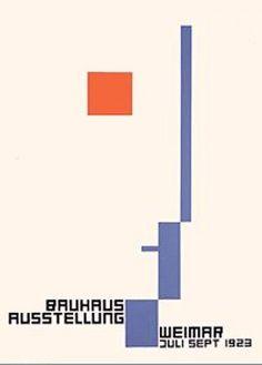 Fritz Schleifer - Cartaz para a exposição da Bauhaus em Weimar, 1923