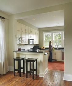 Image result for small knock through galley kitchen