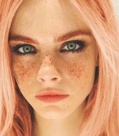 Pink hair #freckles