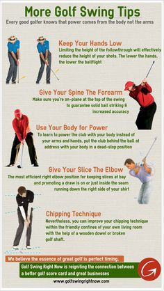More Golf Swing Tips (Infographic)  http://www.golfswingtipsforbeginners.com/golf-swing-basics-html/