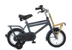 alpina cargo fiets 12 inch rhinogrey met 1-speed en V-brake en terugtraprem