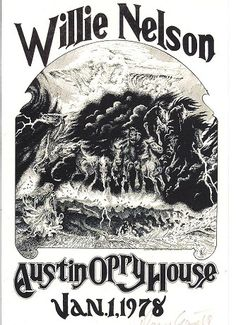 Willie Nelson, at his own Austin Opry House, 1978