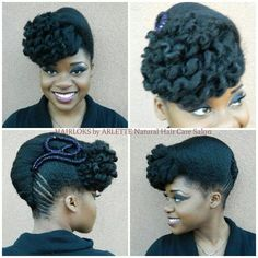 Natural Hair Pin up style