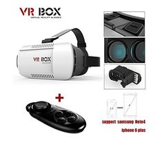 Morjava VR BOX Head Mount Virtual Reality 3d Video Glasses for 46 Smartphones Iphone 6 Plus Samsung Galaxy S6 Edge Note 5 Moto G 3d Movies Google Cardboard 3D GlassMini Bluetooth joystick >>> Want to know more, click on the image.(It is Amazon affiliate link) #sunset