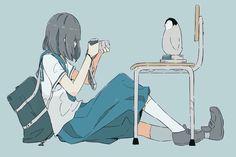 anime, girl, and art image Anime Art Girl, Manga Girl, Anime Guys, Aesthetic Art, Aesthetic Anime, Pretty Art, Cute Art, Character Illustration, Illustration Art