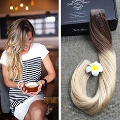Ombre Blonde Hair Long Extention