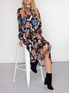 Floral Midi dress - Dresses - Clothing - Dorothy Perkins United States