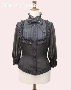 Innocent World Striped Sleeve Blouse in Black/M