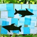 Shark Crafts for Preschoolers: Shark Suncatcher