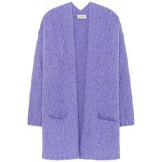American Vintage Boolder Cardigan - Iris (9.780 RUB) ❤ liked on Polyvore featuring tops, cardigans, sweaters, iris, purple top, purple long sleeve top, oversize cardigan, drop-shoulder tops and long sleeve cardigan