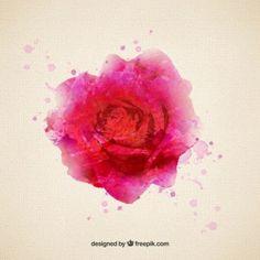Rosa en estilo de acuarela                                                                                                                                                     Más