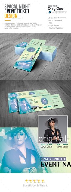 Event #Ticket - Cards & Invites Print Templates.Download here: http://graphicriver.net/item/event-ticket/15897348?ref=arroganttype