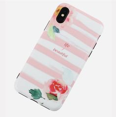 Unisex Woman Striped Pink Cute TPU Soft Shell Phone Case For iPhone is best and cool on Newchic. Cute Cases, Cute Phone Cases, Phone Case Store, Iphone Cases For Girls, Give You Up, Mobile Covers, Couple Gifts, Phone Covers, Boyfriend Gifts