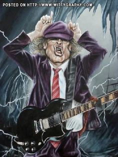 """Black Ice"" ( Angus Young - AC/DC ) by Christian Stellner"