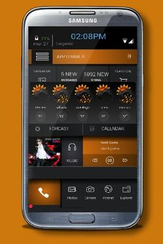 Samsung Galaxy Note 3 buzz launcher theme by me