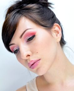 Keiko used a unique makeup tool for this look...you ready? Scotch Tape!!