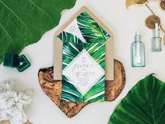 Destination-Wedding-Hawaii-Invitation-Gold-Foil-Banana-Leaf-Watercolor-Beach-Tropical