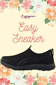 EasySneaker All Black Memory Foam, Super, All Black, Easy, Sneakers, Comfortable Work Shoes, Comfortable Shoes, Awesome Shoes, News