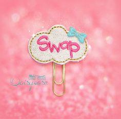 Swap Reminder Glitter Paperclip by LittleMissDaisyrose on Etsy