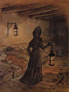 Anton Pieck. The Woman In Black, John Bauer, Anton Pieck, Classic Fairy Tales, Dutch Painters, Dutch Artists, Grimm, Netherlands, Nursing