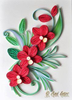 Printre hobby-uri: quilling, kusudama, origami, bijuterii handmade...: Quilling - Orchids (2)