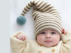 That's what keep your goblin warm this winter! A pretty hat and its knitting pompon of a size prema to 6 months. Source by Baby Hats Knitting, Knitting For Kids, Baby Knitting Patterns, Knitting Projects, Knitted Hats, Crochet Patterns, Bonnet Crochet, Crochet Baby, Knit Crochet
