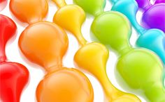 Download wallpapers Colored 3d drop, rainbow, 3d drop, paint