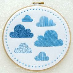 Clouds Embroidery Sampler Kit... Try you hand at lots of lovely stitches ⛅