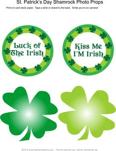 St. Patrick's Day Shamrock Photo Booth Props