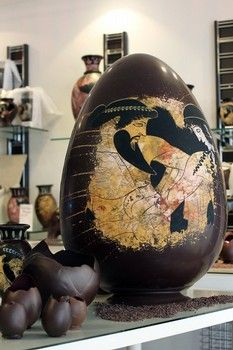 decorated chocolate Easter eggs crafted by the French chocolatier family Colas - vacationtravelogu. Chocolate World, Easter Chocolate, Love Chocolate, Easter Egg Crafts, Easter Eggs, Chocolate Showpiece, Egg Photo, Food Sculpture, Creative Food Art