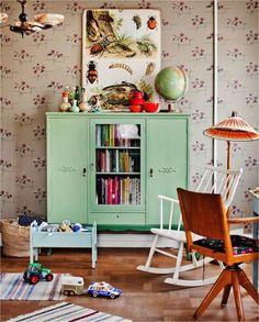 meuble couleur + papier peint