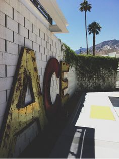 ACE HOTEL PALM SPRINGS Why couldn't there be letters?