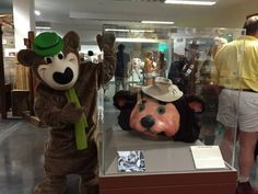 Yogi Bear and his pal Teddy | It Takes A Village: A Trip Back in Time to Frontier Village, Santa's Village and Lost World, 2015