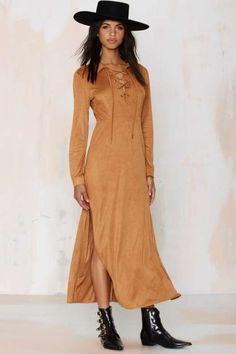 Linette Lace Up Maxi Dress