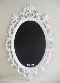 magnetic chalkboard in a beautiful frame.  i want.