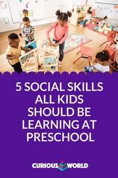 Here's how your child will develop socially at preschool: Teamwork Skills, Social Skills, Preschool Kindergarten, Educational Activities, Child, Learning, Kids, Children, Children