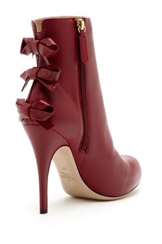 Valentino Triple Bow High Heel Bootie