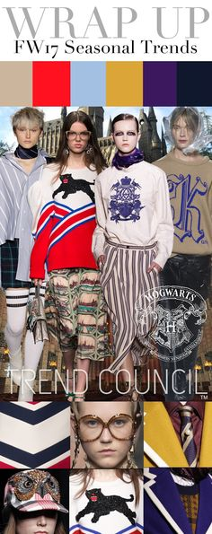 TRENDS // TREND COUNCIL - HOGWARTS . WOMEN'S AND MEN'S FW 2017 (FASHION…
