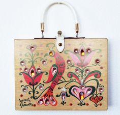 Enid Collins 1964 Hearts and Flowers Box Bag by niwotARTgallery, $180.00