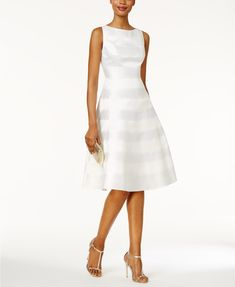 Adrianna Papell Wedding Dresses Adrianna Papell Striped A-Line Dress Sheath Wedding Dress Second Wedding Dresses, Gorgeous Wedding Dress, Dress Wedding, Second Weddings, Wedding Vows, Wedding Events, Prom Dress, Butterfly Dress, Mothers Dresses
