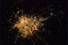 Hyderabad, India, clear in the night. Home to the world's largest movie studio