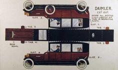 Daimler paper car