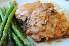 Roast Chicken with Caramelized Shallots - findingthekitchen.com
