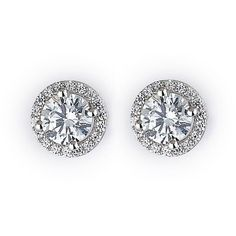 Sparkling Silver Stud Earrings ($59) ❤ liked on Polyvore featuring jewelry, earrings, accessories, sparkle jewelry, sparkly earrings, silver earrings, silver jewellery and silver stud earrings