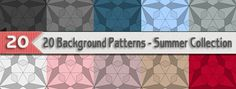 20 Background Patterns – Summer Collection