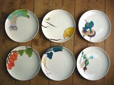 Sydney Albertini plates: ceramic + vegetables.