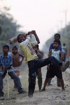 street cricket in India