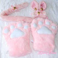 4 Pieces fluffy Set for cute kittens!♡  Kawaii Bdsm // Worldwide Free & Discreet Shipping